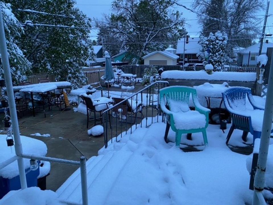 Medicine Hat, snow, May, Lori