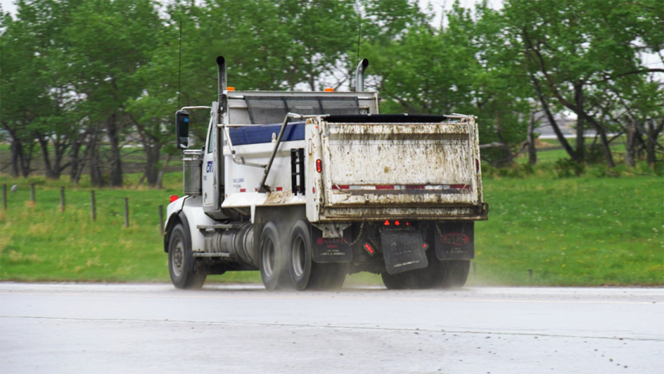 gravel, truck, calgary