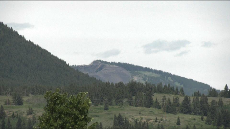 coal, mining, grassy, mountain