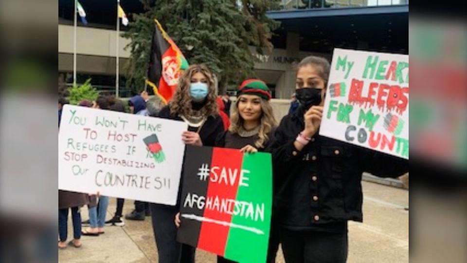 afghanistan, rally, calgary, city