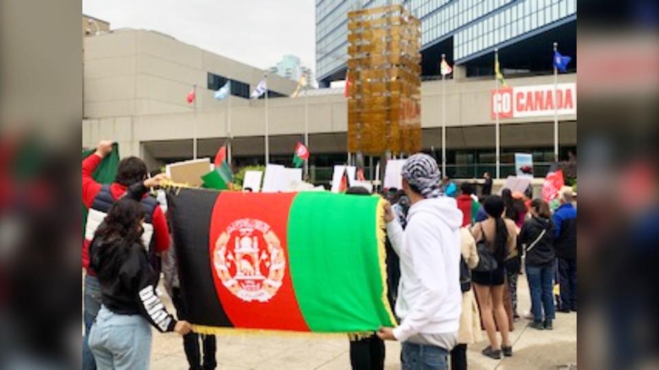 Afghanistan, rally, city, hall
