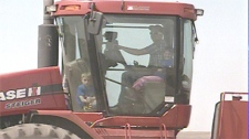 Donovan children in tractor