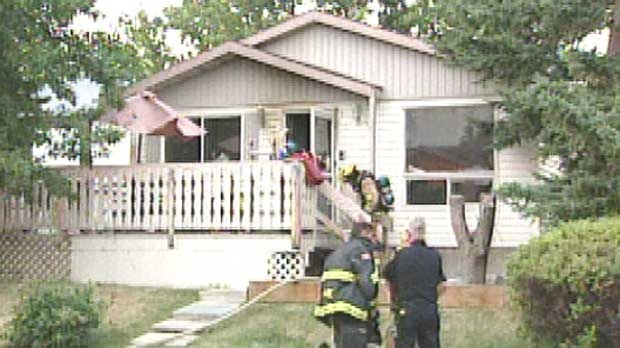 A person has died inside a home in the southeast community of Dover Glen following a fire on Sunday evening.