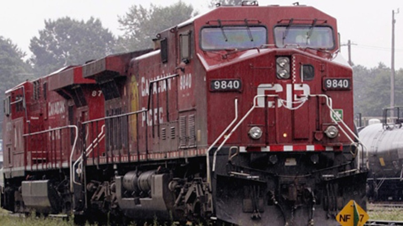 A CP Rail engine is seen in this file photo. (CP Photo/Chuck Stoody)
