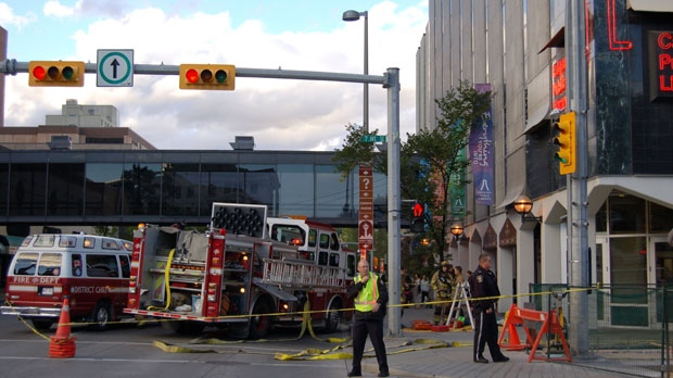 Charges are pending against the person responsible for a September 9 fire at the Calgary Public Library at the corner of 7 Ave and Macleod Tr.