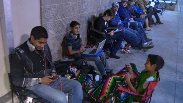 Many Apple fans started lining up overnight at the Chinook Centre and Market Mall to get their hands on the newest version of the iPhone.