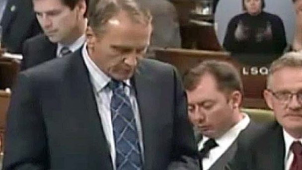 Calgary MP Rob Anders is seen sleeping in the Hous