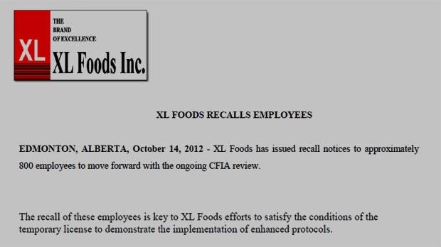 Recall Letter to Employee xl Foods Employee Recall